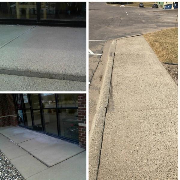 concrete lifiting trip hazards