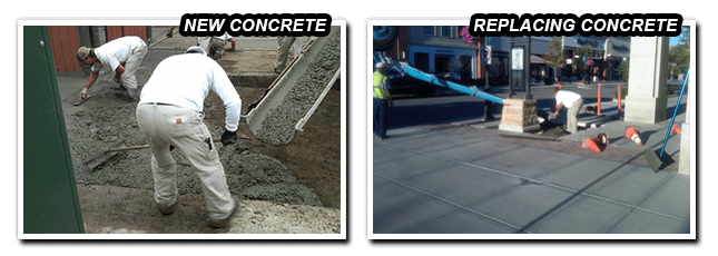replacement concrete & new concrete