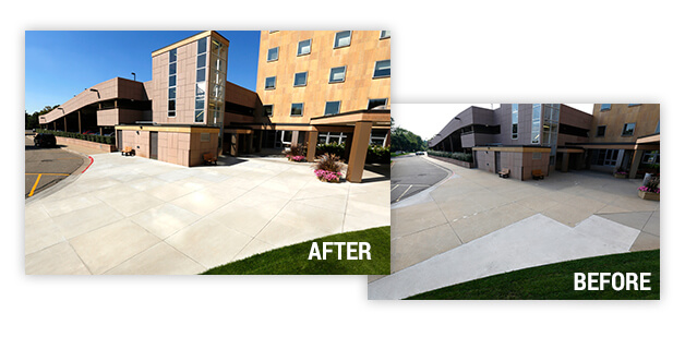 before and after sidewalk repair